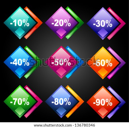 Discount labels 4 - stock photo
