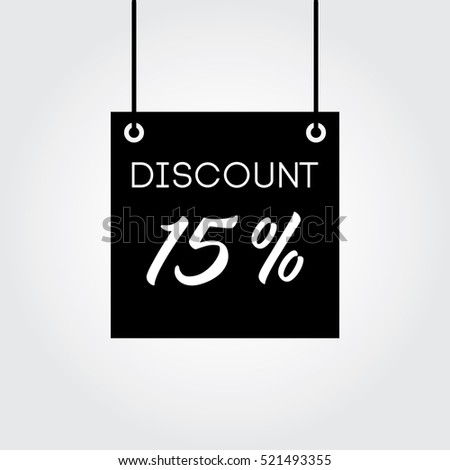 Discount 15% on board hanging black