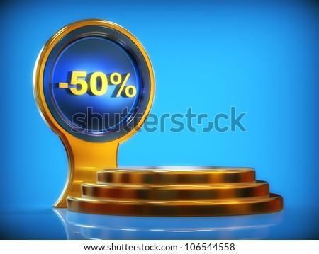Discount pedestal -50%