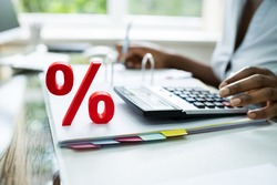 Discount Percent And Interest Percentage Sign On Invoice