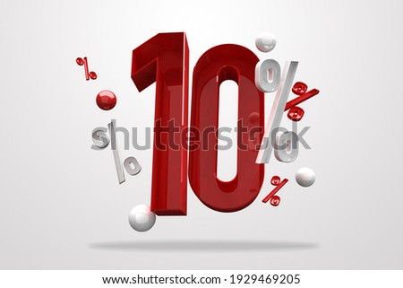 Discount 10% percent sign 3d number red. Special Offer 10% Discount Tag, Sale Up to 10 Percent Off, big offer, Sale, Special Offer Label, Sticker, Tag, Banner, Advertising, number 10