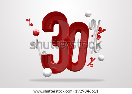 Discount 30% percent sign 3d number red. Special Offer 30% Discount Tag, Sale Up to 30 Percent Off, big offer, Sale, Special Offer Label, Sticker, Tag, Banner, Advertising, number 30