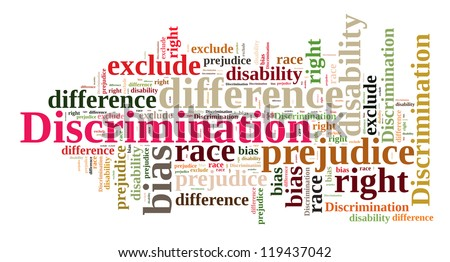 Discrimination in word cloud