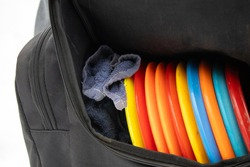 Discs and towel in the bag