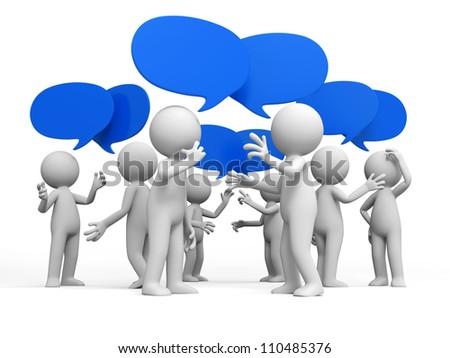 Discuss/debate/Several people are discussed