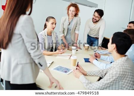 Discussing strategies #479849518