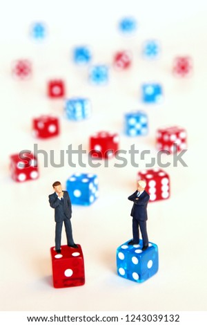 Discussion and confrontation between business competitors #1243039132