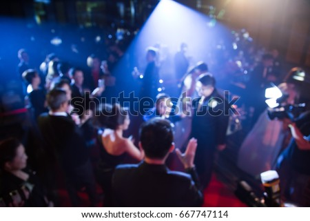 Disfocus of the award ceremony theme creative with down lighting . background for business concept