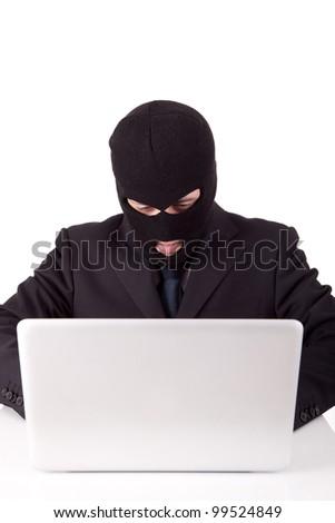 Disguised computer hacker