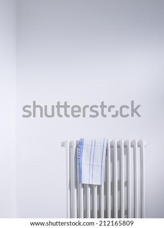 Dish cloth on radiator