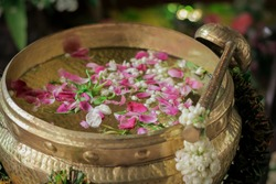 Dishes and equipment for traditional Javanese wedding rituals