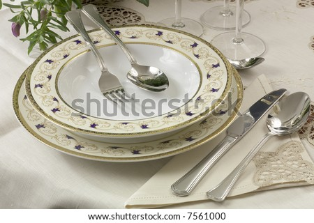 dishes and silverware