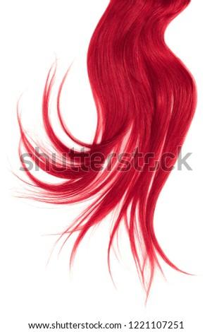 Disheveled pink hair isolated on white background