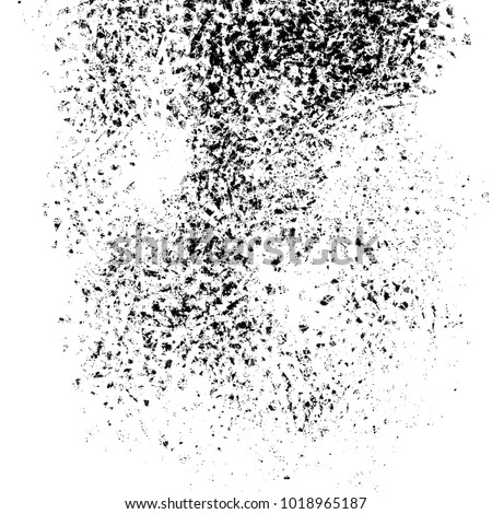 Disintegration and dispersion abstract shape on white background