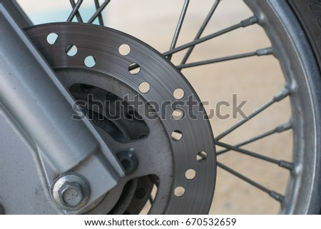 Disk brake of motorcycle #670532659