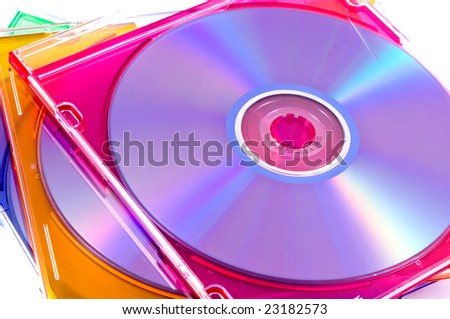 disk, DVD boxes isolated