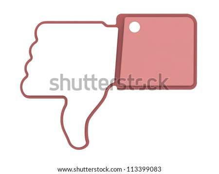 Dislike Icon. Thumb Up Sign for Blogs and Websites.