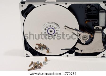 dismantle a hard driver