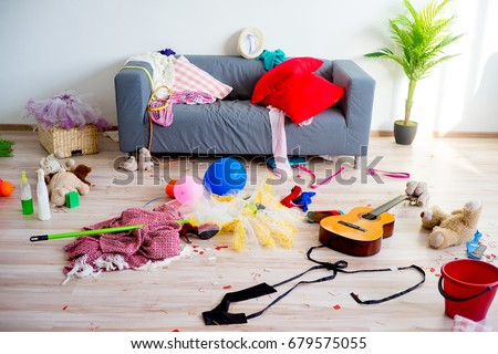 Disorder mess at home Stock fotó ©