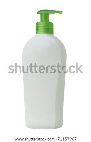 Dispenser of hand soap. Isolated on white background