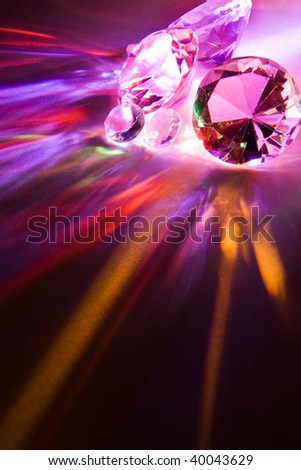 Dispersion of light through crystals into rainbow colors