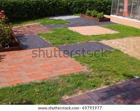 Display of different design garden stone floor tiles for - Garden floor tiles design ...