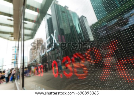 Display of Stock market quotes  #690893365