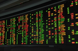 Display of Stock Market quotes,for using background.business and money concept