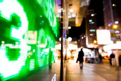 Display of Stock market quotes in Hong Kong.