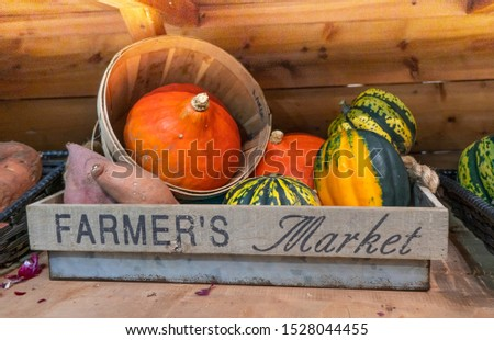 Display of vegetables at farmer's market  ストックフォト ©