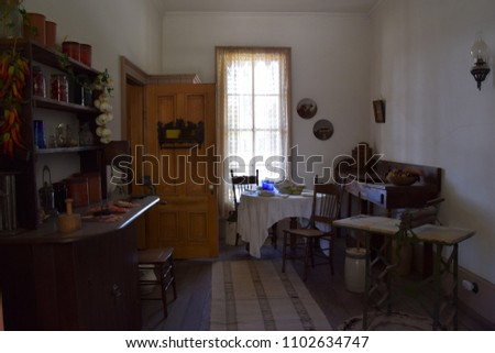 display of vintage kitchen...