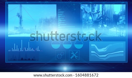 display on the display of the processes of drilling an oil well during field exploration. Process control and data processing using neural networks and artificial intelligence