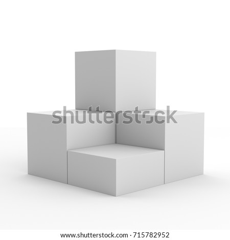 display stand for product presentation. 3D rendering