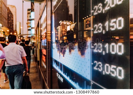 Display stock market charts in street