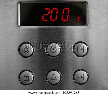 Display the temperature in the oven and buttons