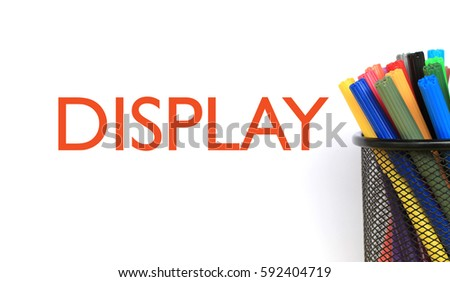 Display Words Concept