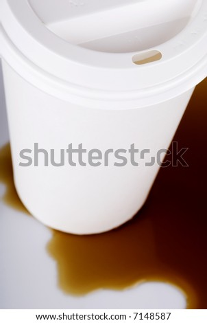 Disposable Coffee Cup Spill