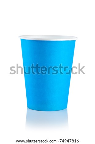 Disposable cup isolated on a white background