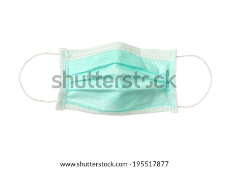 Disposable face mask (with clipping path) isolated on white background #195517877