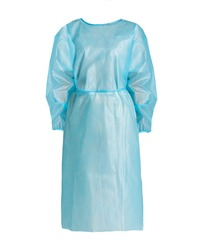 disposable isolation gown surgical gown for surgery protection pe surgical gown light blue