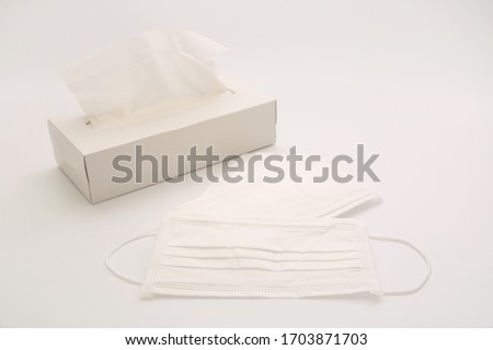 Disposable mask  and box type tissue