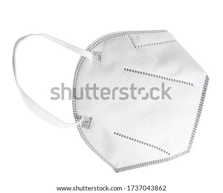 Disposable mask with earloop, FFP2 with N95 - KN95 protection. Face mask FFP3 for protecting yourself and others from Covid-19. Without breathing valve, protection against the spread of infections