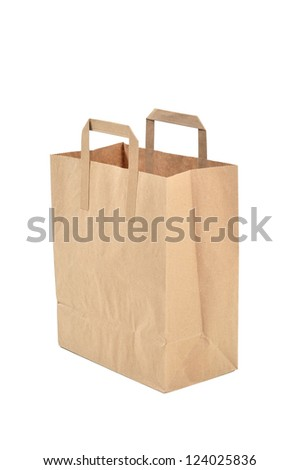 disposable paper bag - stock photo