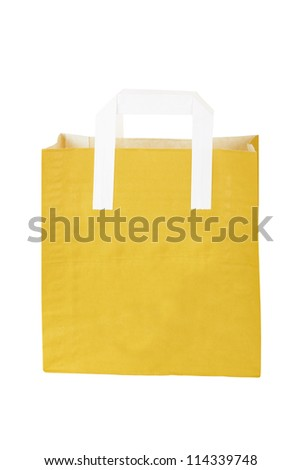 disposable paper bag isolated on a white