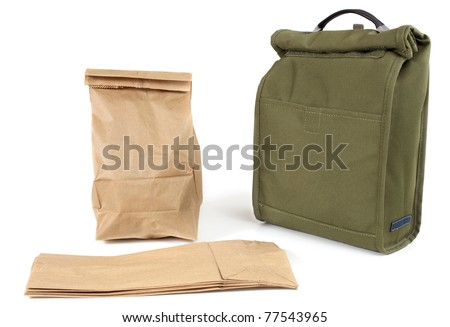 Disposable paper lunch bags or re-usable fabric sack?