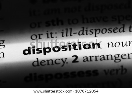 disposition word in a dictionary. disposition concept Stock photo ©