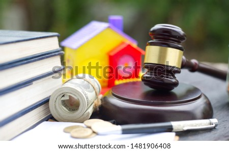 Disputes and lawsuits against house or real estate damages  concepts