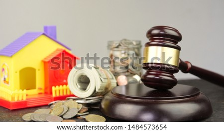 Disputes and lawsuits against house or real estate damages concepts #1484573654
