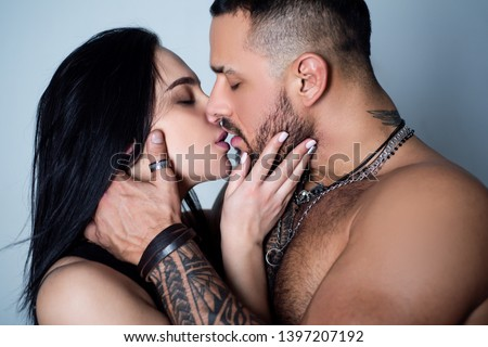 Dissolve into each other. Couple in Love. Romantic kiss and love. Intimate relationship and sexual relations. Close up mouths kissing. Passion and sensual kiss. Intimacy moments. Sensual couple kiss.