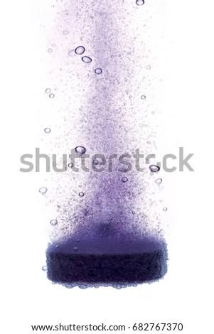 dissolving effervescent tablet